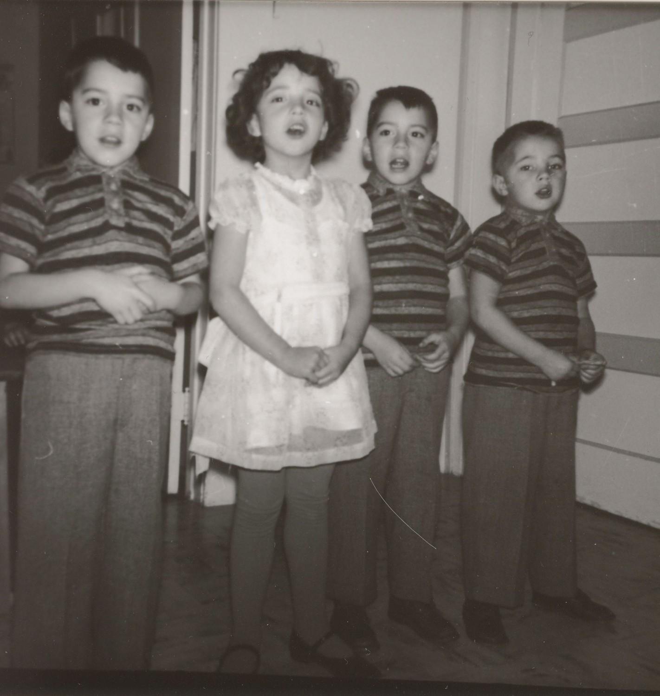 Bitner quartet, Doug, Dianne, Dwight and Randy (before color)