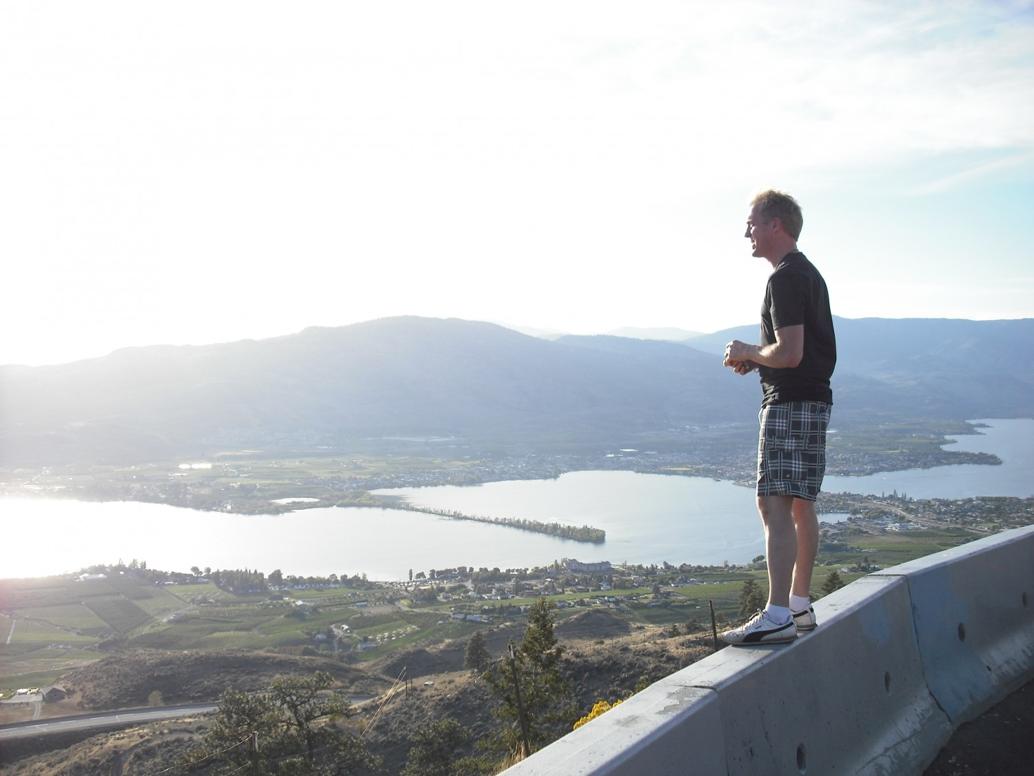 Brent looking over Osoyoos from outside of town