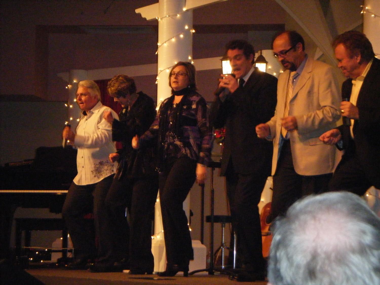 Dale singing with Three Bridges in Regina SK
