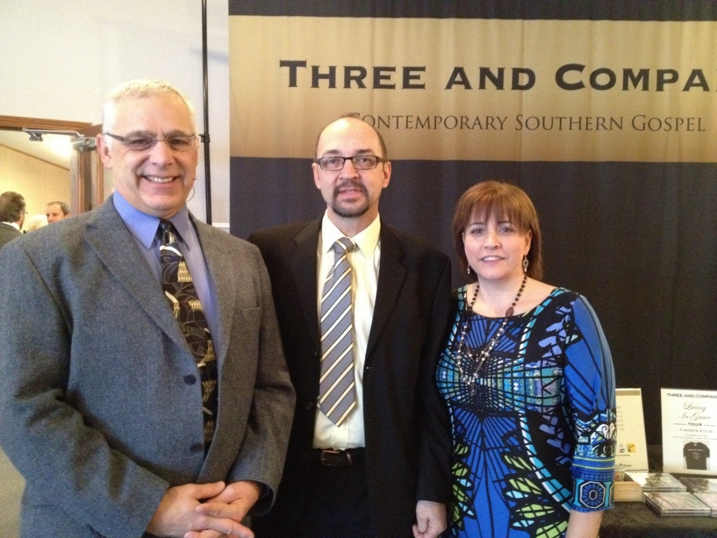 Pastor Murray Wittke with cousin Dale and Dianne at Windermere, BC