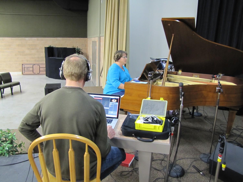 Brent recording Arlene for a soundtrack