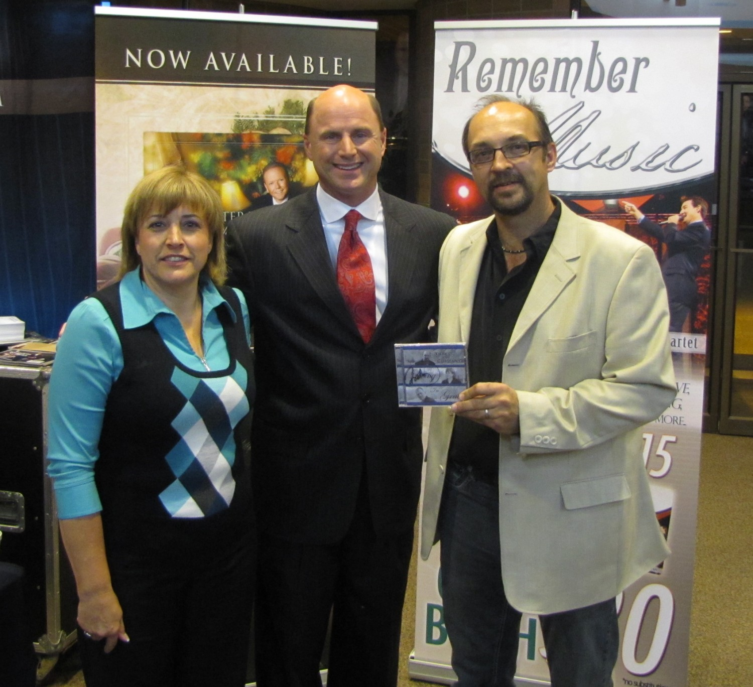 """Rodney Griffin with our new CD, he wrote the song """"I Love Living In Grace"""