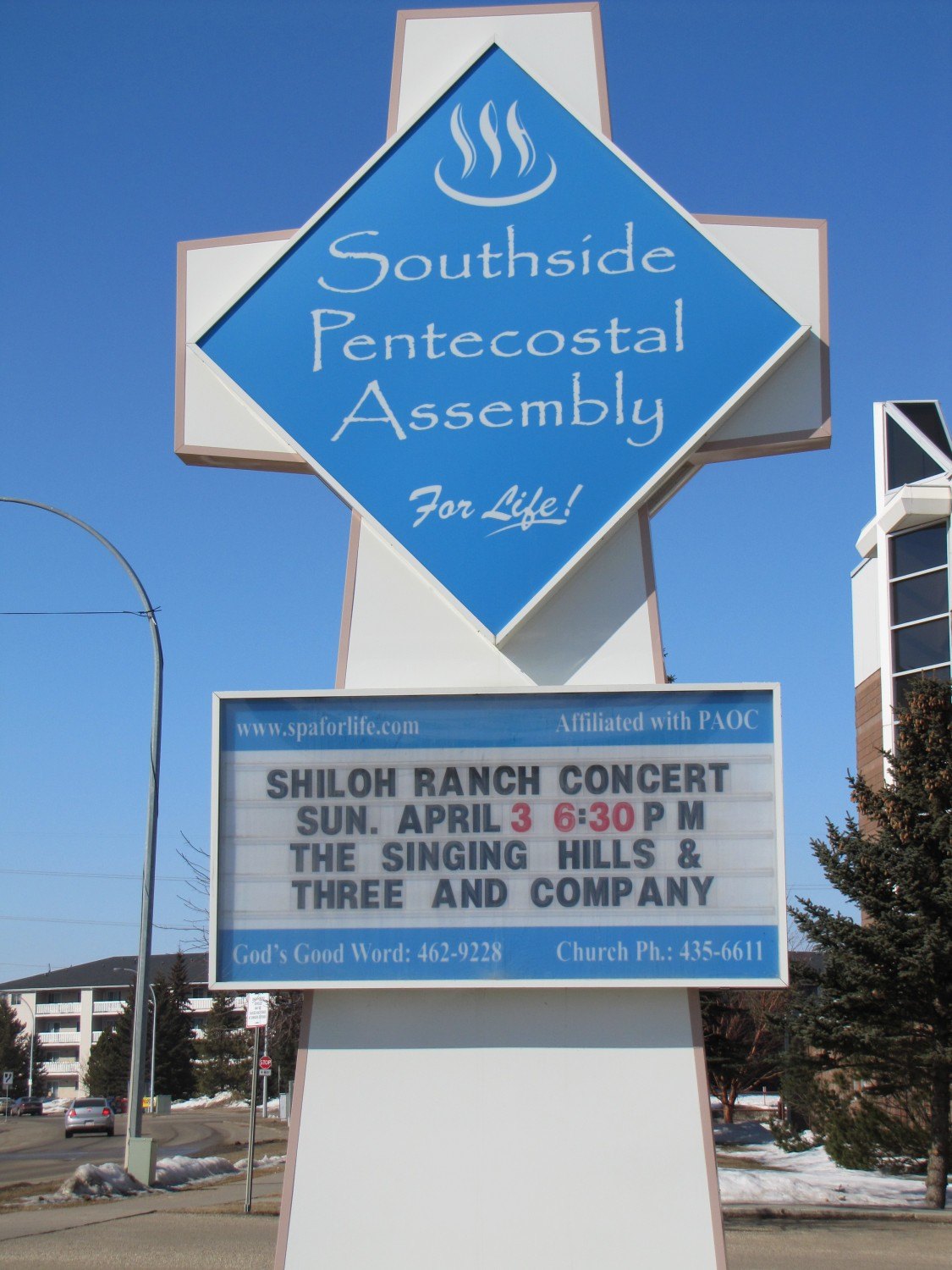 Sign for Shiloh Ranch fundraiser