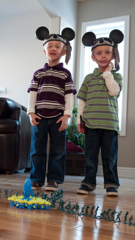 Mason and Silas with big ears