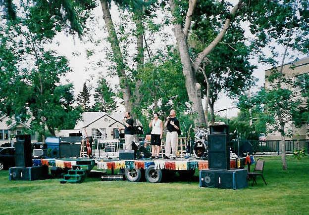 Concert in the park in Wetaskwin