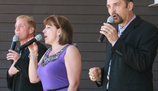 Three and Company at Medicine Hat BMF Gospel Jamboree in the Kin Coulee Park bandstand