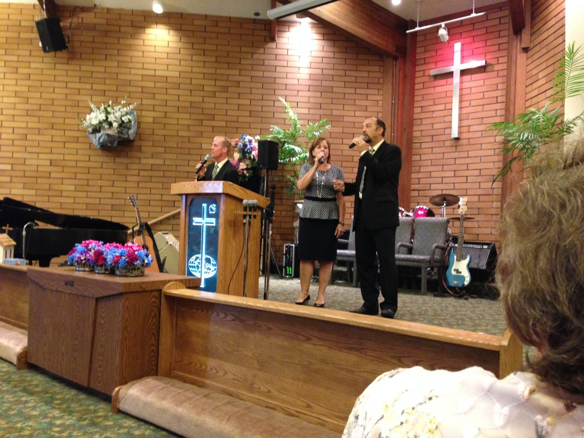 Three and Company sing at Penticton Church of the Nazarene